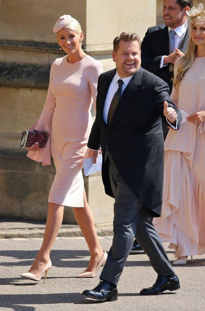 James Corden and wife Julia Carey arrive at Windsor Castle