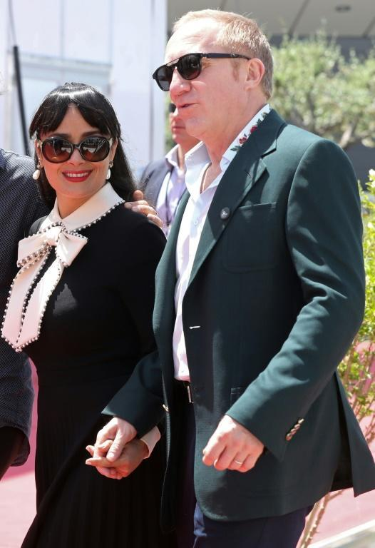 Mexican-Lebanese actress Salma Hayek and her husband French businessman Francois-Henri Pinault in Cannes