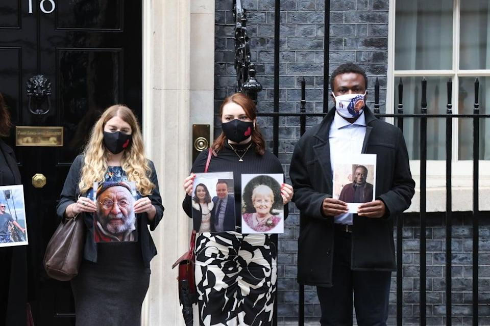 The meeting took place at 10 Downing Street, 398 days after the Prime Minister first promised to hold one (James Manning/PA) (PA Wire)