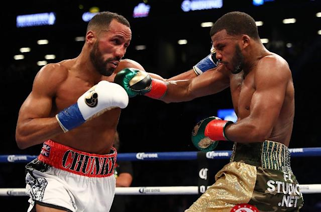 James DeGale the first British Olympic boxing champion to go on to become a world champion is hoping for some big fights to round off his career after surrendering his IBF super-middleweight title (AFP Photo/AL BELLO)