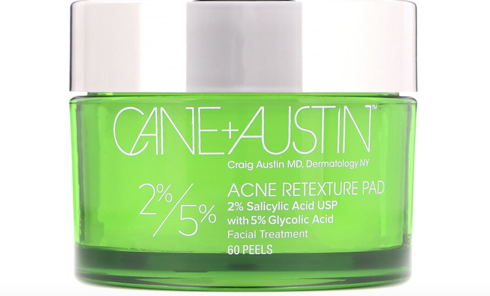 Cane + Austin, Acne Retexture Pad, 2% Salicylic Acid / 5% Glycolic Acid, 60 Peels, ₱3,461.98. PHOTO: iHerb