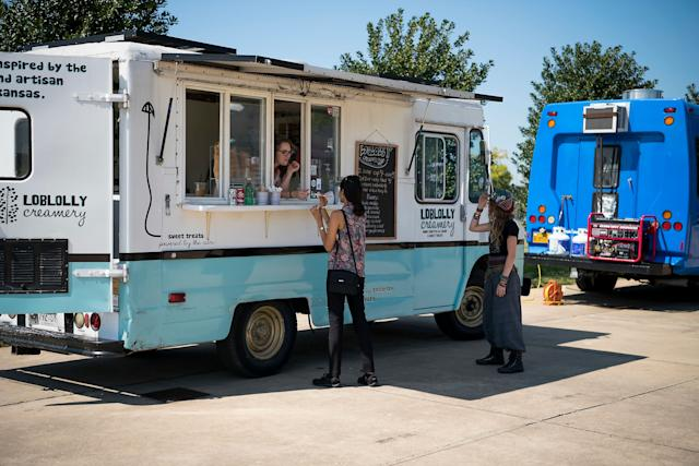 The Loblolly food truck at the HuffPost activation site.