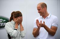<p>Prince William couldn't hide his amusement when Kate was given the Wooden Spoon at the inaugural King's Cup regatta in 2019. </p>