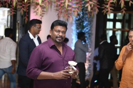 R Parthiepan clicked at Soundarya Rajnikanth and Vishagan Vanangamudi's wedding