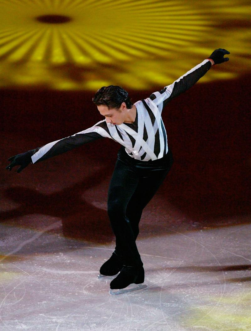 Performing at the Exhibition Gala at the 2004 World Figure Skating Championships in Dortmund, Germany, on March 28, 2004.