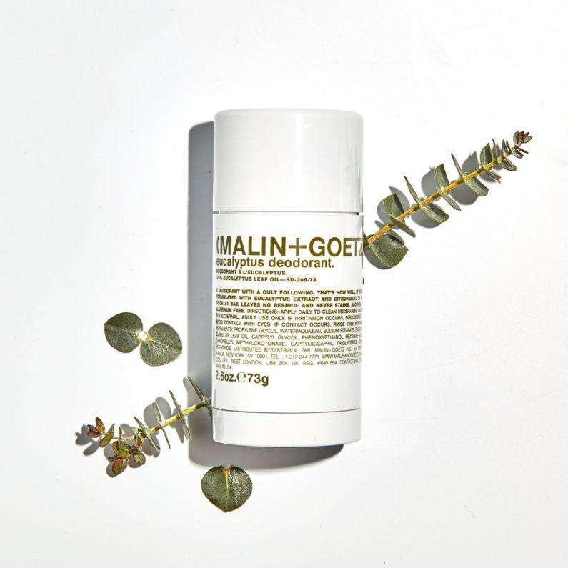 """<h2>Malin + Goetz</h2><br>""""Our modern apothecary approach offers the best of tried, true, and trusted natural ingredients and advancements in technology to produce the most gentle and effective treatments available. We are not experimenting on our customer in any way - we know these things work."""" <em>– </em> <em><a href=""""https://www.malinandgoetz.com/our_story"""" rel=""""nofollow noopener"""" target=""""_blank"""" data-ylk=""""slk:Malin + Goetz Website"""" class=""""link rapid-noclick-resp"""">Malin + Goetz Website</a></em><br><br>Malin + Goetz are the perfect combination of natural ingredients and technology, refining them in order to create powerful skincare products. Still, all of them are safe to use on sensitive skin. It's the marriage of effective and gentle solutions. <br><br><strong>Shop <em><a href=""""https://www.malinandgoetz.com"""" rel=""""nofollow noopener"""" target=""""_blank"""" data-ylk=""""slk:Malin + Goetz"""" class=""""link rapid-noclick-resp"""">Malin + Goetz</a></em></strong><br><br><strong>Malin + Goetz</strong> eucalyptus deodorant., $, available at <a href=""""https://go.skimresources.com/?id=30283X879131&url=https%3A%2F%2Fwww.malinandgoetz.com%2Feucalyptus-deodorant-2-6oz-e73g"""" rel=""""nofollow noopener"""" target=""""_blank"""" data-ylk=""""slk:Malin + Goetz"""" class=""""link rapid-noclick-resp"""">Malin + Goetz</a>"""