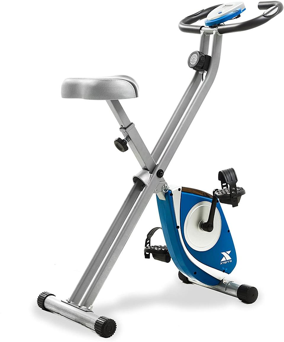 Save 25% on the XTERRA Fitness FB150 Folding Exercise Bike. Image via Amazon.