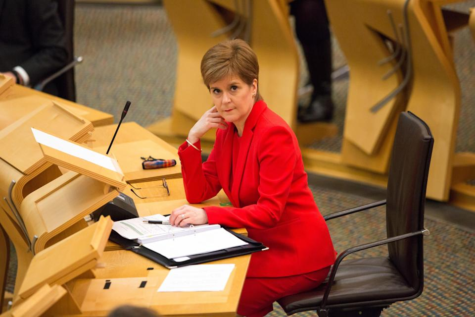 Nicola Sturgeon said Scotland had administered its highest number of vaccinations so far on Monday February 1 (Robert Perry/PA)