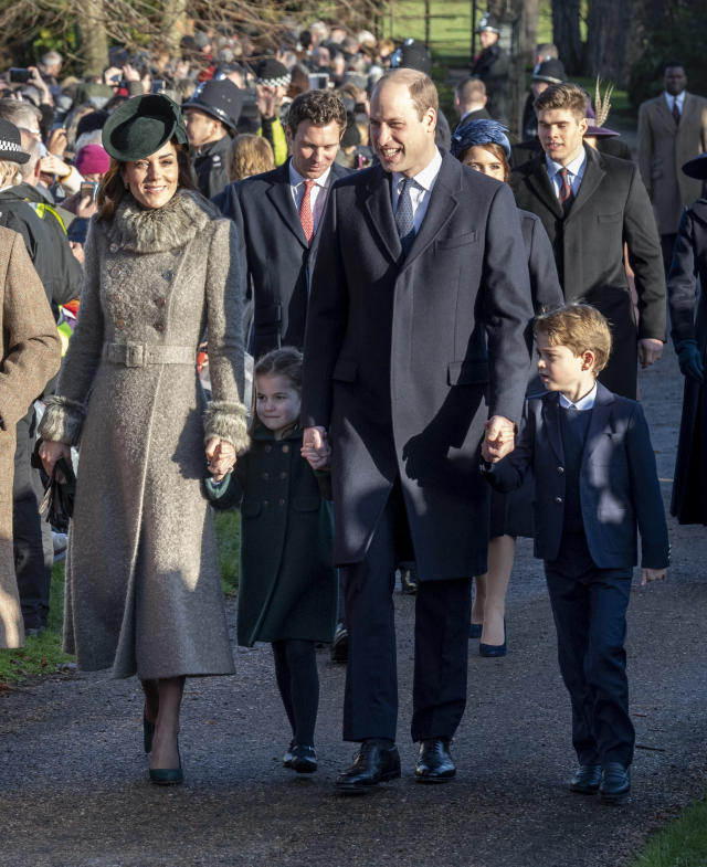 William and Kate took George and Charlotte for the Christmas Day service in Sandringham for the first time in 2019. (Getty Images)