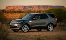 "<p><a href=""https://www.caranddriver.com/land-rover/discovery"" rel=""nofollow noopener"" target=""_blank"" data-ylk=""slk:Land Rover's Discovery"" class=""link rapid-noclick-resp"">Land Rover's Discovery </a>is the model they use to make a stylistic statement. The weirdness goes away once the Discovery heads off road, and its sophisticated all-wheel-drive system can show off its talents. An available air suspension provides up to 11.1 inches of ground clearance with generous approach and departure angles. The Disco can also swim in up to 35.4 inches of water. Land Rover's advanced terrain-management system monitors road conditions and includes customizable settings. There are two engines available. A 3.0-liter turbodiesel V-6 rated at 254 horsepower and a thumping 443 lb-ft of torque. The gasoline option is a supercharged 3.0-liter V-6 that knocks out 340 horses.</p>"