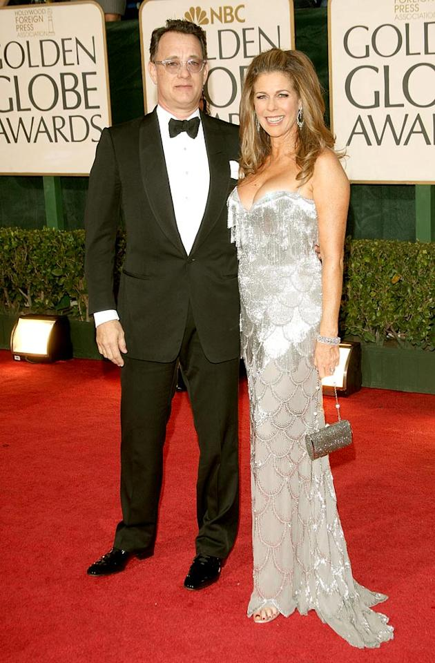 """Tom Hanks and Rita Wilson arrive at the 66th Annual Golden Globe Awards in Beverly Hills. Frazer Harrison/<a href=""""http://www.gettyimages.com/"""" target=""""new"""">GettyImages.com</a> - January 11, 2009"""