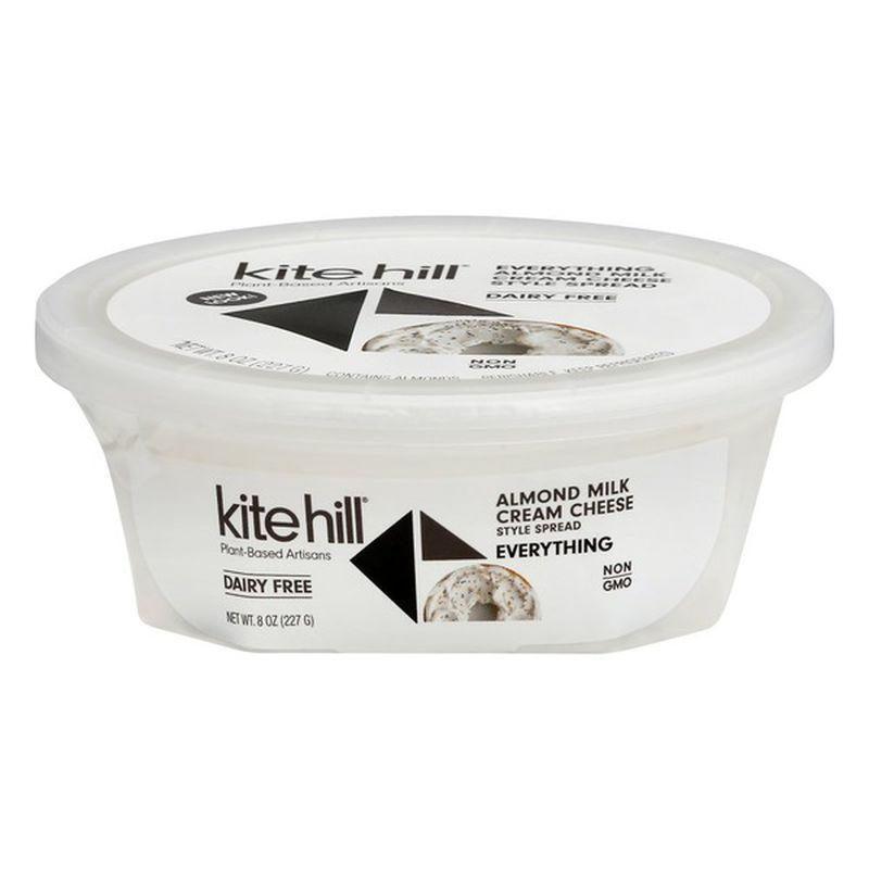"""<p><strong>Kite Hill</strong></p><p>instacart.com</p><p><a href=""""https://go.redirectingat.com?id=74968X1596630&url=https%3A%2F%2Fwww.instacart.com%2Flanding%3Fproduct_id%3D19600787%26retailer_id%3D266%26region_id%3D2075833866%26mrid%3D259188663&sref=https%3A%2F%2Fwww.womenshealthmag.com%2Ffood%2Fg29648044%2Fvegan-cheese-brands%2F"""" rel=""""nofollow noopener"""" target=""""_blank"""" data-ylk=""""slk:Shop Now"""" class=""""link rapid-noclick-resp"""">Shop Now</a></p><p>If you're missing that thick shmear of cream cheese on a bagel, look no further than this totally vegan cream cheese.</p><p>The WH testers preferred flavored plant-based alternatives over plain, and this creamy and tangy almond-based spread was a favorite. The everything-but-the-bagel vibe is delicious without being too overpowering. </p>"""