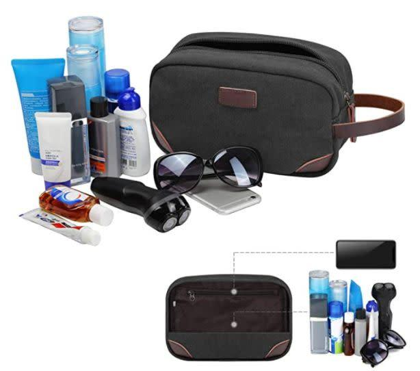 "Find this Travel Toiletry Organizer Bag for $13 on <a href=""https://amzn.to/3joeUOr"" rel=""nofollow noopener"" target=""_blank"" data-ylk=""slk:Amazon"" class=""link rapid-noclick-resp"">Amazon</a>."