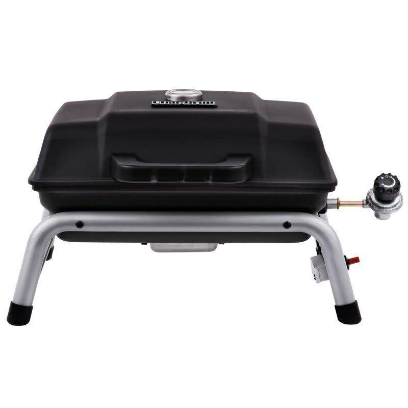 "Get your grill on with this one, which features enough space to cook up to nine burgers at once. The porcelain-coated wire grate is supposed to be easy to clean. <a href=""https://yhoo.it/3ihDoZe"" rel=""nofollow noopener"" target=""_blank"" data-ylk=""slk:Find it for $85 at Wayfair"" class=""link rapid-noclick-resp""> Find it for $85 at Wayfair</a>."