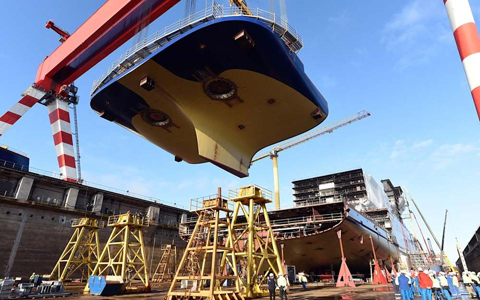 The keel for Celebrity Cruises' new ship, Celebrity Beyond, was laid this week