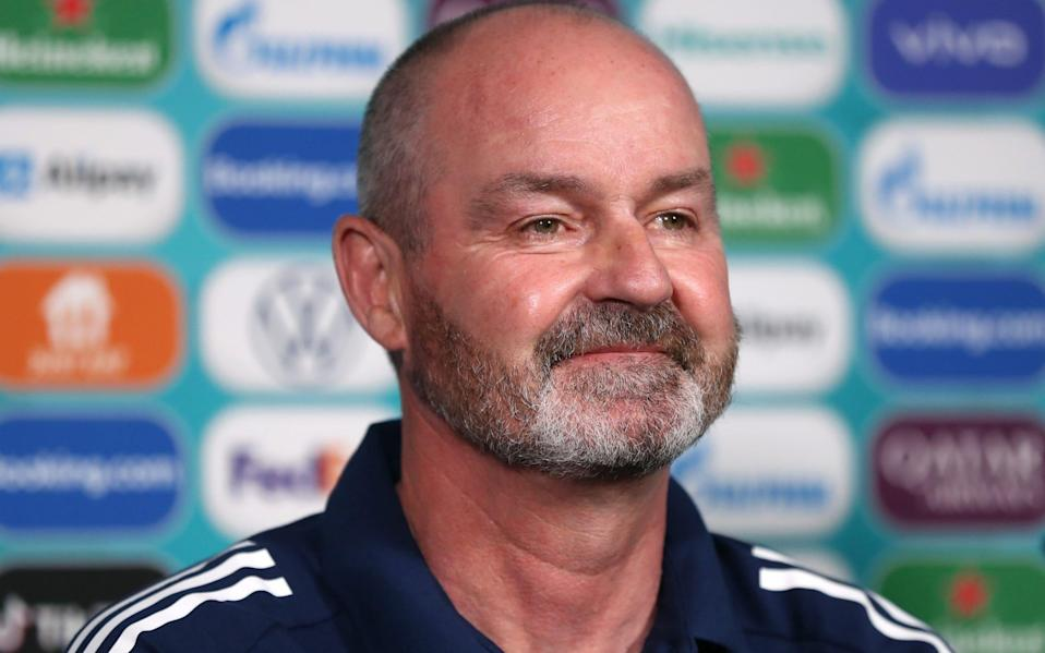 Scotland boss Steve Clarke faces the press - GETTY IMAGES
