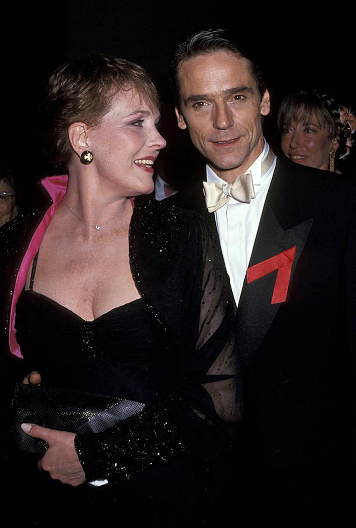 Julie Andrews and Jeremy Irons during the 45th Annual Tony Awards on Jun. 2, 1991, at Minskoff Theater in New York City.