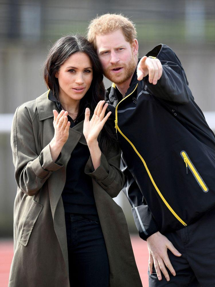Meghan Markle and Prince Harry at the U.K. Team Trial for the Invictus Games in April