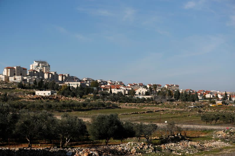 A view shows an Israeli settlement near Ramallah in the Israeli-occupied West Bank