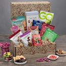 """<p><strong>GourmetGiftBaskets.com</strong></p><p>gourmetgiftbaskets.com</p><p><strong>$74.99</strong></p><p><a href=""""https://go.redirectingat.com?id=74968X1596630&url=https%3A%2F%2Fwww.gourmetgiftbaskets.com%2FGluten-Free-Gift-Basket-Classic.asp&sref=https%3A%2F%2Fwww.thepioneerwoman.com%2Fholidays-celebrations%2Fgifts%2Fg37433020%2Ffood-gift-baskets%2F"""" rel=""""nofollow noopener"""" target=""""_blank"""" data-ylk=""""slk:Shop Now"""" class=""""link rapid-noclick-resp"""">Shop Now</a></p><p>This basket is perfect for the gluten-free friend or family member in your life. They'll love being able to indulge in all of their favorite treats, like chocolate chip cookies, trail mix, jerky, and more.</p>"""