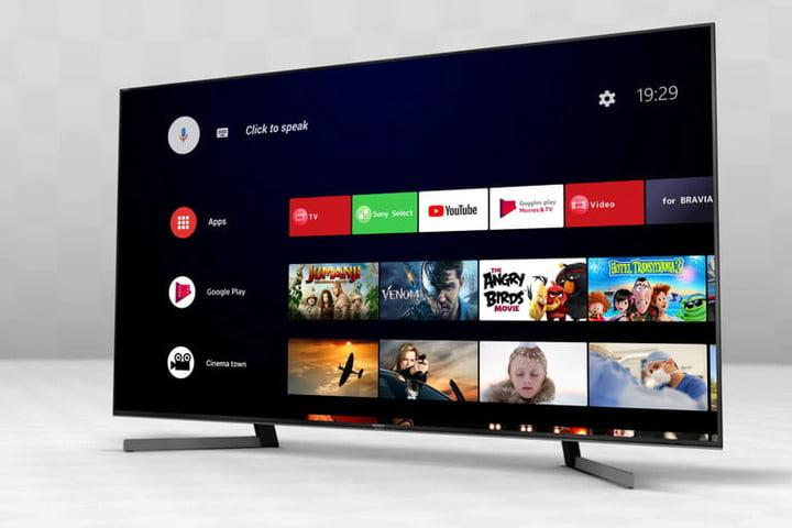 Sony Android TV home screen