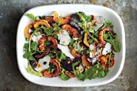 "Wheat berries and roasted squash give this salad heft, while pearl onions and arugula keep things fresh. The spiced pumpkin seeds are just a delicious bonus. <a href=""https://www.epicurious.com/recipes/food/views/roasted-acorn-and-delicata-squash-salad-51256520?mbid=synd_yahoo_rss"" rel=""nofollow noopener"" target=""_blank"" data-ylk=""slk:See recipe."" class=""link rapid-noclick-resp"">See recipe.</a>"