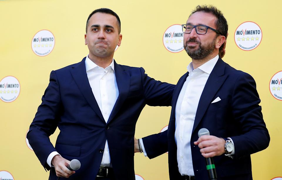 Italy's Foreign Minister Luigi di Maio and Italy's Justice Minister Alfonso Bonafede attend an anti-government protest held by Italy's 5-Star Movement in Rome, Italy, February 15, 2020. REUTERS/Remo Casilli (Photo: Remo Casilli / Reuters)