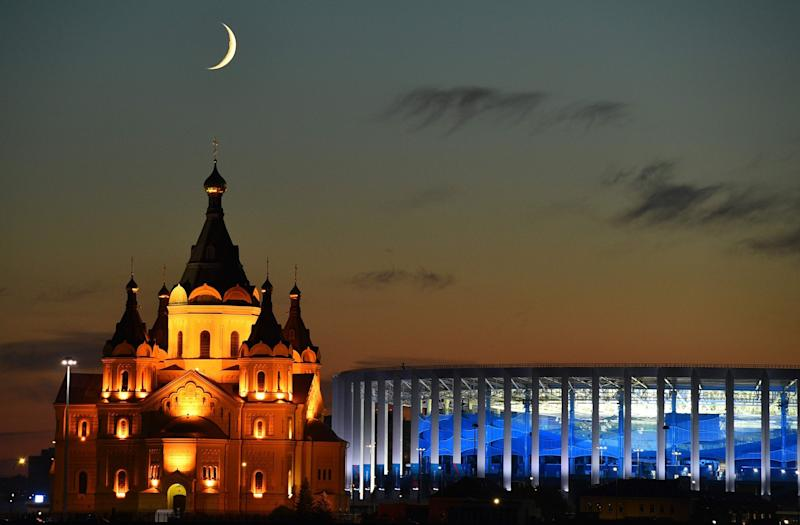 Beautiful Nizhny Novgorod will welcome thousands of England fans: AFP/Getty Images
