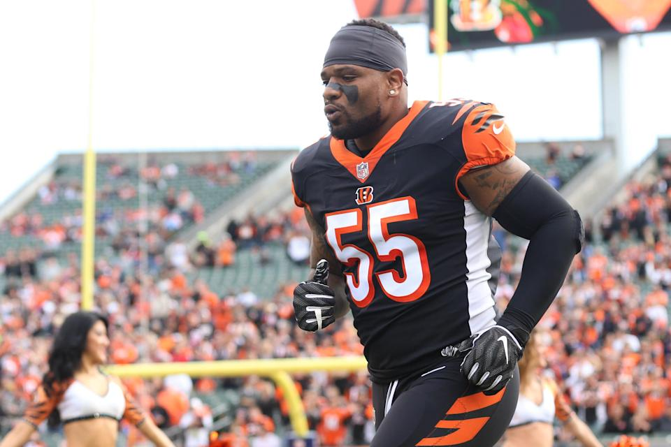 Bengals linebacker Vontaze Burfict suffered his seventh known concussion in the NFL on Sunday, his second in just three weeks. (Getty Images)