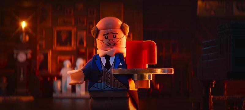 Alfred (Ralph Fiennes) in The Lego Batman Movie. (Warner Bros Pictures)