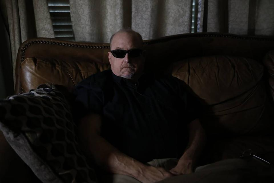 """Tom Harris from Texas sought stem cell therapy for his failing vision. Harris says his vision was about 20/60 before the treatment. He says he is now totally blind in one eye and his vision is """"severely impaired"""" in the other."""