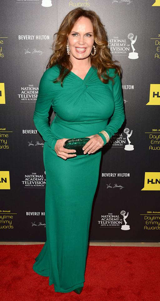 Catherine Bach arrives at The 39th Annual Daytime Emmy Awards held at The Beverly Hilton Hotel on June 23, 2012 in Beverly Hills, California.