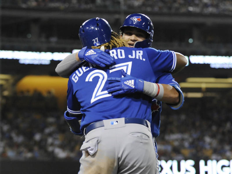 Toronto Blue Jays shortstop Bo Bichette and third baseman Vladimir Guerrero Jr. are both the present and future of the franchise. (Gary A. Vasquez-USA TODAY Sports)