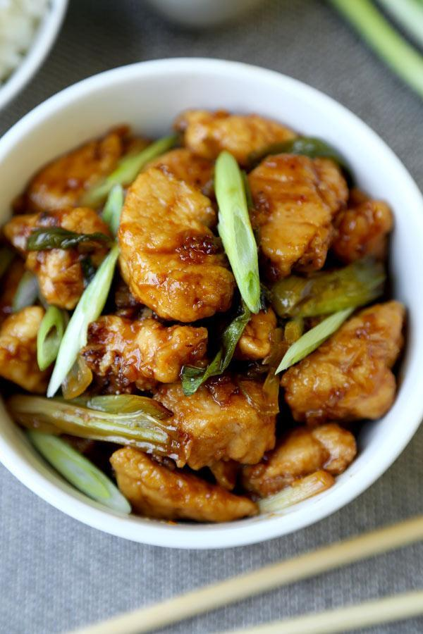 """<p>Forget take-out. This is a healthier alternative to the classic Mongolian beef preparation with ingredients that pack a punch! Not only is this recipe quick and tasty, it makes great leftovers with rice. <i>[Image: Pickled Plum]</i></p><p>Get the recipe from:<b> <a href=""""http://www.pickledplum.com/mongolian-chicken-recipe/"""" rel=""""nofollow noopener"""" target=""""_blank"""" data-ylk=""""slk:Pickled Plum"""" class=""""link rapid-noclick-resp"""">Pickled Plum</a></b></p>"""