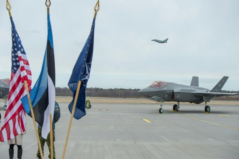 US F35s fly into Estonia in show of North Atlantic Treaty Organisation  solidarity