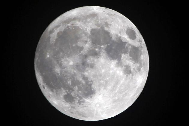 Water has been found on a sunlit surface of the moon (file picture)