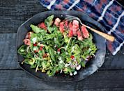 """Last night's steak, whatever it is, will do. Rib eye, porterhouse, flank, and strip are all excellent the next day. <a href=""""https://www.bonappetit.com/recipe/sliced-strip-steak-with-arugula-and-parsley?mbid=synd_yahoo_rss"""" rel=""""nofollow noopener"""" target=""""_blank"""" data-ylk=""""slk:See recipe."""" class=""""link rapid-noclick-resp"""">See recipe.</a>"""