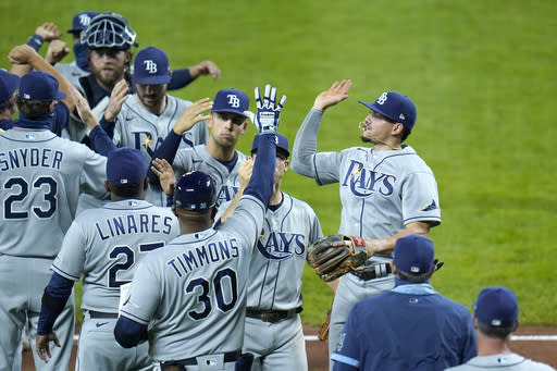 Rays earn AL playoff spot with doubleheader sweep of Orioles