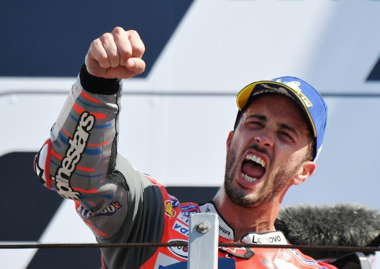 Italian Ducati rider Andrea Dovizioso won his third race of the season at the San Marino MotoGP