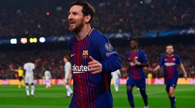 "<p>The final place in the Champions League quarterfinals belongs to Barcelona.</p><p>Barcelona entered the second leg of their last-16 series with a slight, away goals advantage after Lionel Messi's heroics in the first leg at Stamford Bridge. Willian had given Chelsea control and the lead, but Messi's goal–his first against Chelsea in his career–gave Barcelona a favorable 1-1 scoreline heading into the return contest. Messi dominated the second leg with two goals and an assist, though, blowing the tie open in favor of the Catalan side, which advanced on a 4-1 aggregate after a 3-0 second-leg win.</p><p>Barcelona joins Real Madrid, Manchester City, Juventus, Bayern Munich, Liverpool, Sevilla and Roma in the competition's final eight.</p><p><a href=""https://www.amazon.com/gp/video/detail/B077KNSH57/ref=atv_3p_stv_c_ztrea_brws_3_3?ie=UTF8&pf_rd_i=sportsillustrated&pf_rd_m=ATVPDKIKX0DER&pf_rd_p=3386299042&pf_rd_r=D7DFXXYV3E80R1WT68SX&pf_rd_s=center-4&pf_rd_t=12806"" rel=""nofollow noopener"" target=""_blank"" data-ylk=""slk:Watch Grant Wahl and Luis Miguel Echegaray provide you with expert soccer analysis every week on the Planet Futbol show on SI TV."" class=""link rapid-noclick-resp""><em>Watch Grant Wahl and Luis Miguel Echegaray provide you with expert soccer analysis every week on the Planet Futbol show on SI TV. </em></a></p><p>While Messi was clutch late in London, he wasted little time in making an impact on Wednesday. He played a deflected combination with Luis Suarez in making a run to the near post and nutmegged Thibaut Courtois to beat him by that post at a tight angle to give Barcelona a 2-1 aggregate lead in the third minute. At two minutes and eight seconds, it was the quickest goal of Messi's career for club and country, according to Opta, and the 99th of his Champions League career.</p><p>Messi turned provider for Barcelona's second. After Samuel Umtiti made a vital block in defense, Barcelona sprung forward on the counter, with Messi turning Cesar Azpilicueta inside out. He sent a pass over to his right to Ousmane Dembele, who put a right-footed blast by Courtois to make it 3-1 Barcelona on aggregate and 2-0 on the day. The goal was the first for Dembele in a Barcelona shirt after a frustrating season beset by injuries.</p><p>Chelsea nearly got itself a lifeline just before halftime, when the visitors drew a free kick 20 yards out. Marcos Alonso stepped up to take it and was inches from connecting, instead having it hit off the outside of the post with goalkeeper Marc-Andre ter Stegen beaten.</p><p>On the other end, Courtois nearly had a nightmare start to the second half. His careless giveaway gifted Luis Suarez a chance from just inside the box, only for the Belgian goalkeeper to recover in time to make the kick save needed to keep Chelsea within two goals.</p><p>On the ensuing sequence forward for Chelsea, Alonso looked to be clear in on goal, only for Dembele of all players to track back and make a potentially goal-saving tackle as Alonso was going into his shooting motion.</p><p>The action continued to pick up for Chelsea moments later, when it appeared Alonso was through the Barcelona defense in the center of the box and in on goal only to be taken down by Gerard Pique. No penalty was given, though, leading to an incensed group of Chelsea players waving furiously at referee Damir Skomina.</p><p>After Chelsea continued to threaten, Messi took the wind out of its sails with a mirror-image goal to his opener. Luis Suarez played a short pass to the Argentine, who blew by his defenders and beat Courtois from the left with another tight-angled finish for the 100th Champions League goal of his career. That made it 3-0 on the day and 4-1 on aggregate in the 63rd minute, all but ending Chelsea's hopes.</p><p>Messi, who has been vicious on set pieces this season, had an attempt at a hat trick saved by Courtois on a deflected free kick in the 79th minute, with the result well in hand.</p><p>Chelsea nearly secured a consolation goal in the dying minutes, but Antonio Rudiger hit the crossbar with a header. Combined with Willian's two shots off the post in the first leg and Alonso's in the second, Chelsea is left wondering what may have been, while Barcelona is off to another quarterfinal.</p><p>Here were the lineups for both teams:</p><p>The draw for the quarterfinal round will be held on Friday, with no restrictions placed on which teams can be drawn together.</p>"