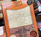 "<p>Mama Cozzi's Take & Bake delights don't end at pizza. You can complete your meal with these Cheesy Bread Sticks, a quick and easy <a href=""https://www.instagram.com/aldiforpresident/"" rel=""nofollow noopener"" target=""_blank"" data-ylk=""slk:approach"" class=""link rapid-noclick-resp"">approach</a> to a yummy carb overload smothered in gooey cheese. They even come with garlic and marinara sauces for dipping.</p>"