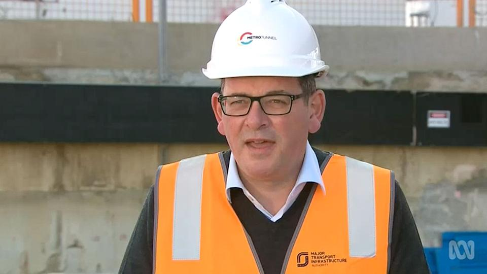 Premier Daniel Andrews slammed those spreading conspiracy theories about his fall. Source: ABC