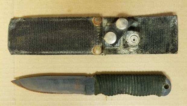 The deceased man was also carrying a 'Shiv' knife in a sheath on his belt.