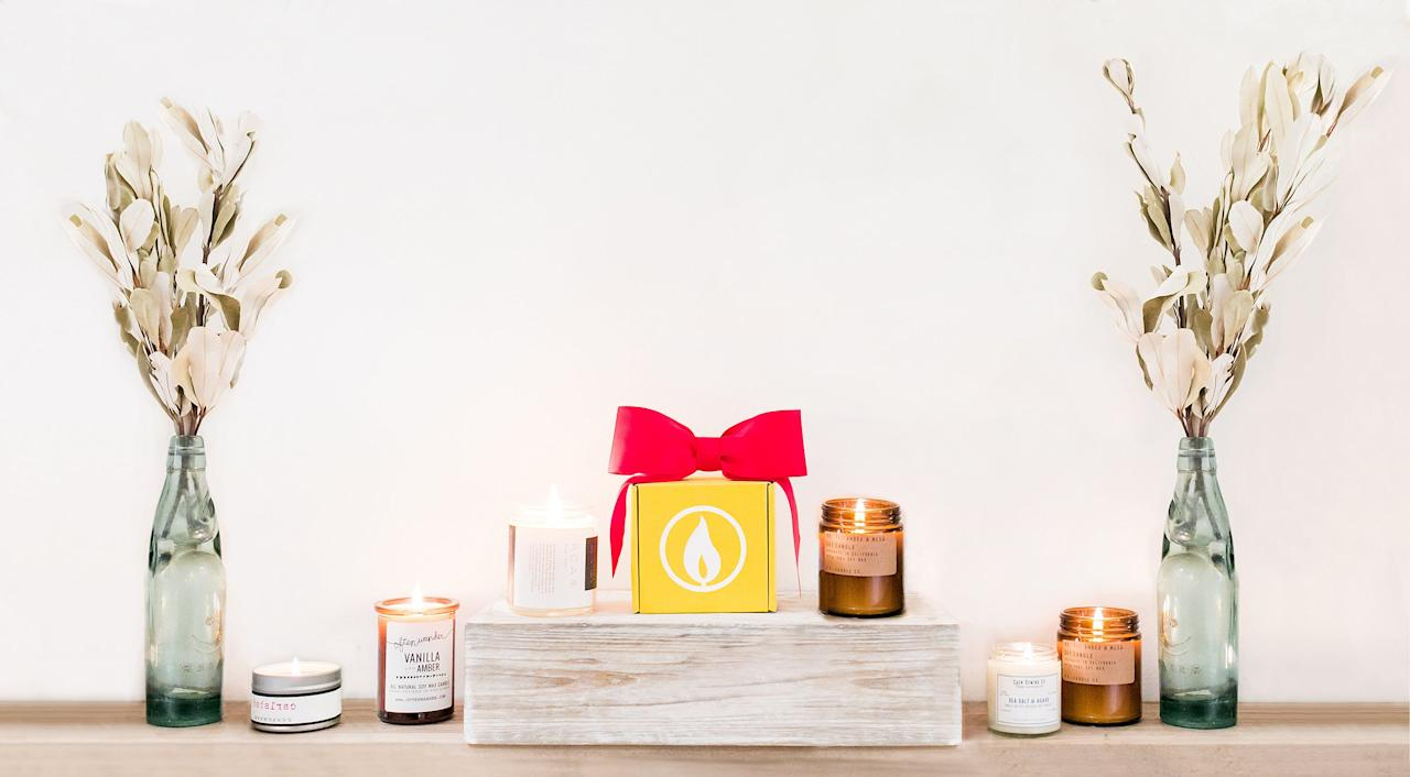"""If you consider yourself a candle connoisseur and constantly adorn your home with seasonal scents, then <a href=""""http://vellabox.com"""">Vellabox</a> is for you. The candle subscription box delivers seasonally curated scents from local artisans to your doorstep every month. Starting at $10 a month, Vellabox takes the guesswork out of hunting down the best, all-natural scents.  <strong>Buy It!</strong>Vellabox, $10/month for a 4 oz. candle, $20/month for an 8oz. candle, $30/month for a both; <a href=""""https://www.vellabox.com"""" target=""""_blank"""" rel=""""nofollow"""">vellabox.com</a>"""