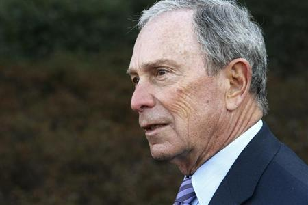 "Former New York City Mayor Michael Bloomberg talks to reporters after meeting with U.S. President Barack Obama and business and civic leaders for an event to discuss Obama's ""My Brother's Keeper"" initiative at the White House in Washington, February 27, 2014. REUTERS/Jonathan Ernst"