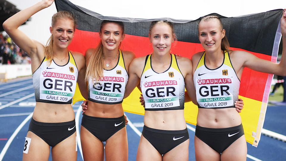 Alica Schmidt, pictured here at the European Athletics U23 Championships in 2019.