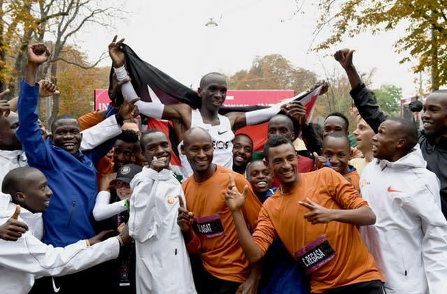 Kipchoge was cheered on by bumper crowds in Vienna. (Tom Lovelock for The INEOS 1:59 Challenge/PA)
