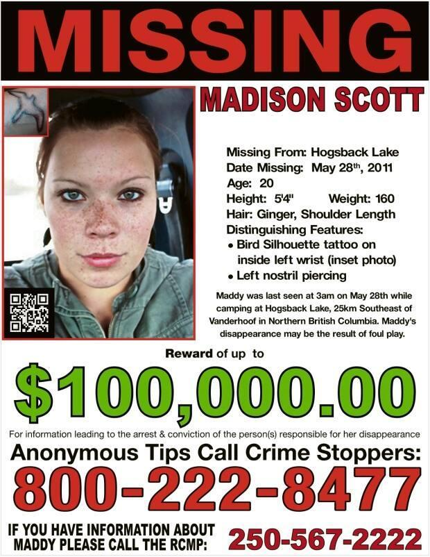 This year, Madison Scott's family and friends organize a social media campaign to share poster of the young woman's missing with the hashtag #FindMaddy from May 28-30.