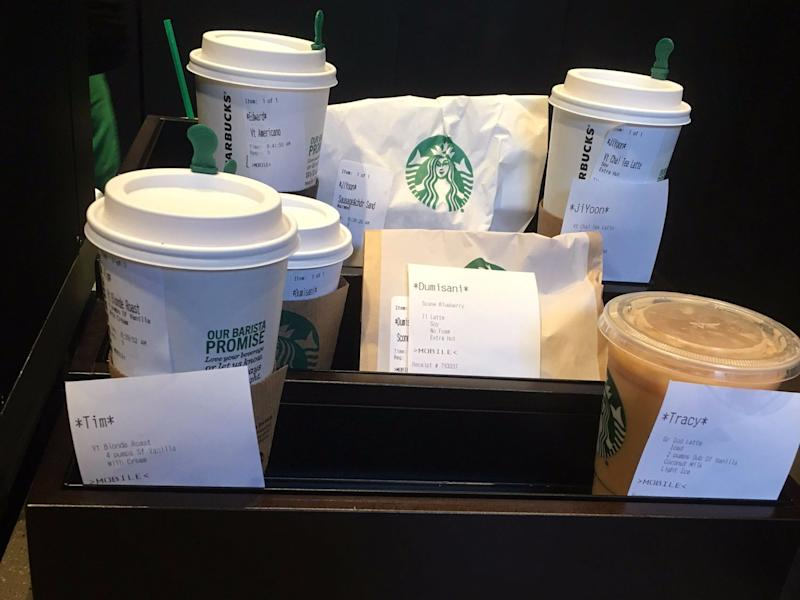 starbucks mobile order