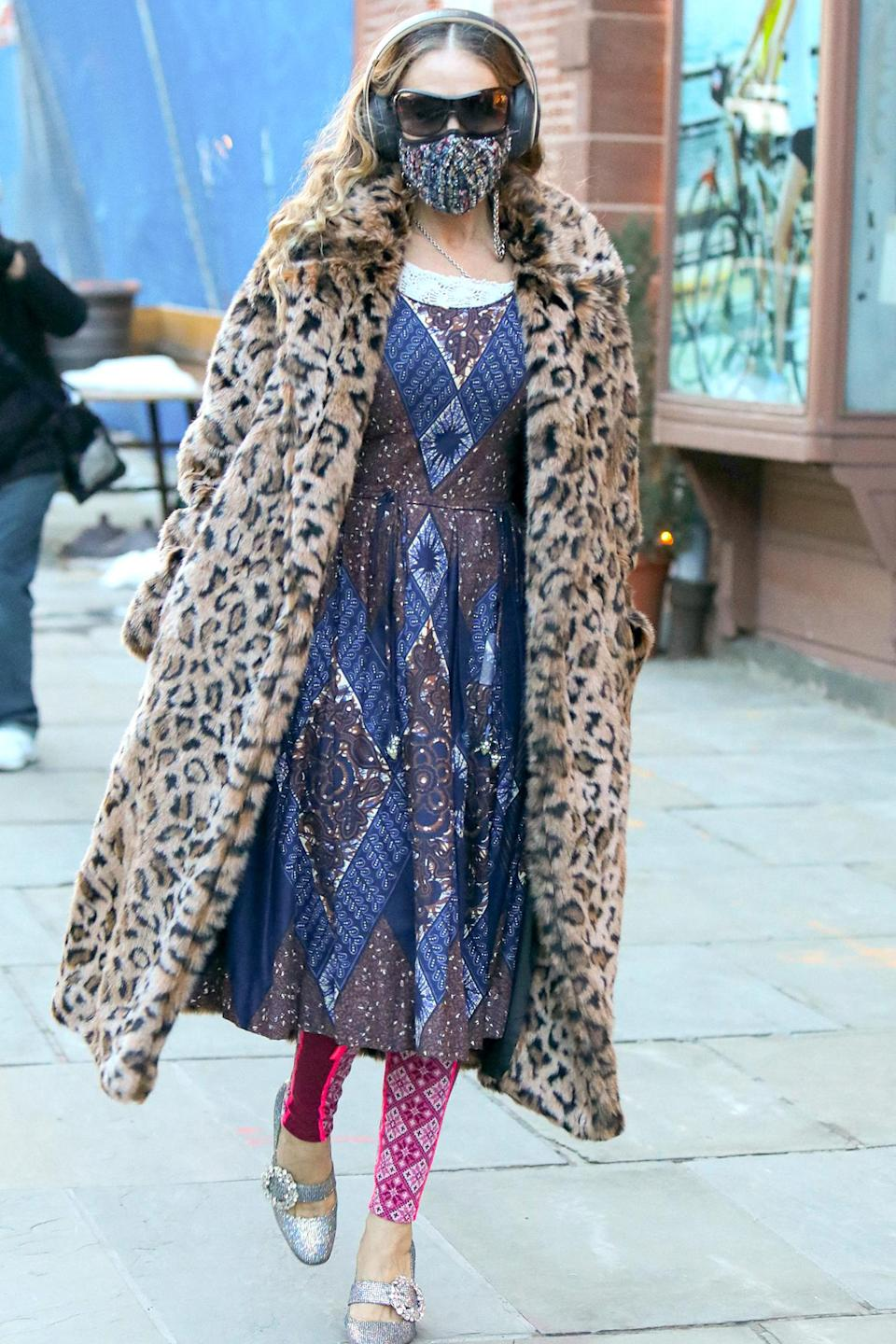 <p>Sarah Jessica Parker was spotted at her SJP By Sarah Jessica Parker store in New York City.</p>